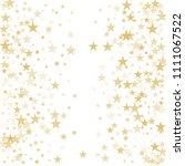 gold flying stars confetti... | Shutterstock .eps vector #1111067522