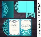 laser cut wedding trifold... | Shutterstock .eps vector #1111067945