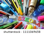 school supplies with the word... | Shutterstock . vector #1111069658