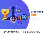 leadership and businessman...   Shutterstock .eps vector #1111070702