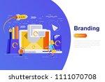 branding modern flat concept...   Shutterstock .eps vector #1111070708