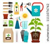 care of houseplants and indoor... | Shutterstock . vector #1111076762