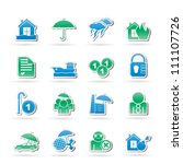 risk icons   vector icon set | Shutterstock .eps vector #111107726
