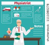 physiatrist and medical... | Shutterstock . vector #1111080278