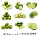 fresh ripe lime isolated on... | Shutterstock . vector #1111092212