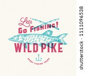 fishing wild pike. abstract... | Shutterstock .eps vector #1111096538