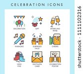 celebration icons for web  app  ... | Shutterstock .eps vector #1111102316