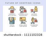 future of shopping concept...   Shutterstock .eps vector #1111102328