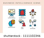 business intelligence concept... | Shutterstock .eps vector #1111102346
