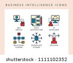 business intelligence concept... | Shutterstock .eps vector #1111102352