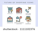future of shopping concept... | Shutterstock .eps vector #1111102376