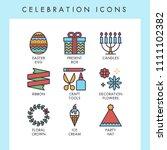 celebration icons for web  app  ... | Shutterstock .eps vector #1111102382