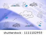 thoughts and memory conceptual... | Shutterstock . vector #1111102955