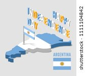 argentina independence day.... | Shutterstock .eps vector #1111104842
