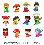 cartoon vector illustration of... | Shutterstock .eps vector #1111105442