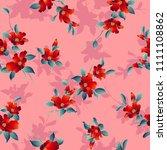 camellia pattern illustration....   Shutterstock .eps vector #1111108862