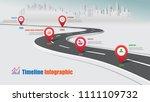business road map timeline... | Shutterstock .eps vector #1111109732