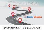 business road map timeline... | Shutterstock .eps vector #1111109735