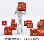 white person holding the dice 5 ... | Shutterstock . vector #111111092