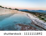 carbonate travertines the...   Shutterstock . vector #1111111892
