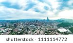 skyline of taipei city in... | Shutterstock . vector #1111114772