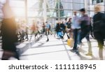crowd blurred people | Shutterstock . vector #1111118945