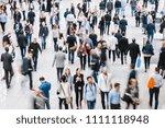 crowd of people   Shutterstock . vector #1111118948