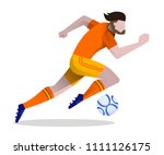 soccer player playing football. ... | Shutterstock .eps vector #1111126175