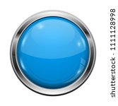 blue button with chrome frame.... | Shutterstock .eps vector #1111128998