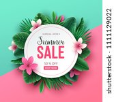 summer sale background with... | Shutterstock .eps vector #1111129022