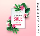 summer sale background with... | Shutterstock .eps vector #1111129052