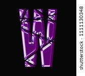 shining metallic purple glass...   Shutterstock . vector #1111130348