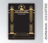 art deco page template  ... | Shutterstock .eps vector #1111137332