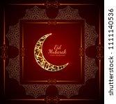abstract elegant eid mubarak... | Shutterstock .eps vector #1111140536