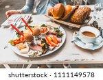 a typical german breakfast | Shutterstock . vector #1111149578