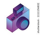 photographic camera isometric... | Shutterstock .eps vector #1111156832