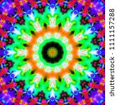 psychedelic art. decorative... | Shutterstock . vector #1111157288