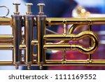musical brass instrument detail | Shutterstock . vector #1111169552