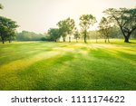 scenery green golf and meadow... | Shutterstock . vector #1111174622