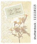 romantic card with tagetes | Shutterstock .eps vector #111118115