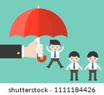 business s hand hold umbrella...   Shutterstock .eps vector #1111184426