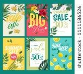 eye catching summer sale mobile ... | Shutterstock .eps vector #1111186526