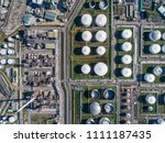 industrial view at oil refinery ... | Shutterstock . vector #1111187435
