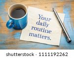 your daily routine matters  ... | Shutterstock . vector #1111192262