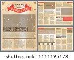 design template of vintage... | Shutterstock . vector #1111195178