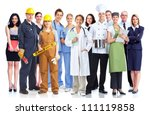 group of industrial workers.... | Shutterstock . vector #111119858
