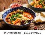 chicken leg noodle | Shutterstock . vector #1111199822