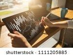 candlestick chart. stock market ... | Shutterstock . vector #1111205885