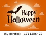 happy halloween text banner... | Shutterstock .eps vector #1111206422