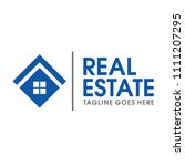 real estate and home logo vector   Shutterstock .eps vector #1111207295